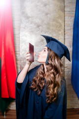 girl is a graduate of the university. Master's program with a certificate.