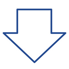 Pfeil nach unten Vector Icon