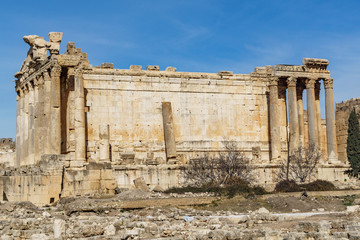 Bacchus temple in Baalbek Lebanon