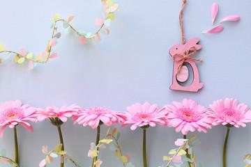 Wall Mural - ピンクのガーベラ イースター