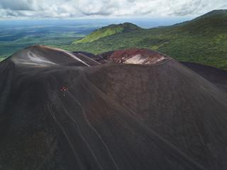 People on cerro negro volcano