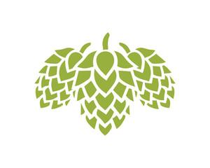 Hop Fruits for making Beer or Wine Sign Symbol Logo Vector