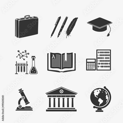 Set Of Symbols Education Stock Image And Royalty Free Vector Files
