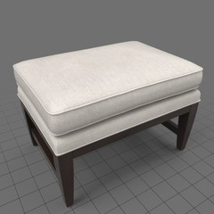 Rectangle ottoman with cushion