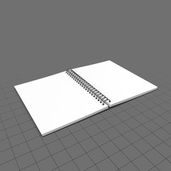 Open spiral sketchbook (flat)