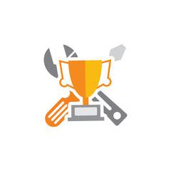 Trophy Repair Logo Icon Design