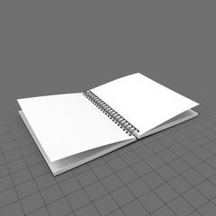 Open spiral sketchbook 1