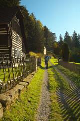 Tourists on the way, Bohemia