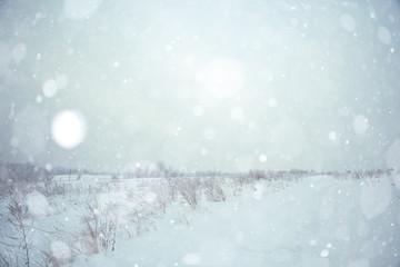 winter snow field grass landscape
