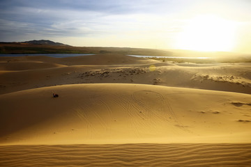 Sand mountains in the desert