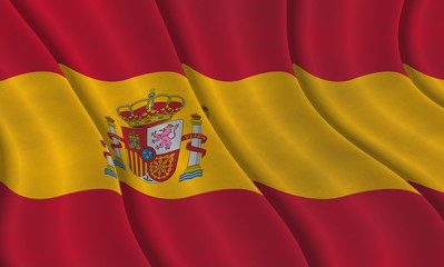 Illustraion of a flying Spanish Flag