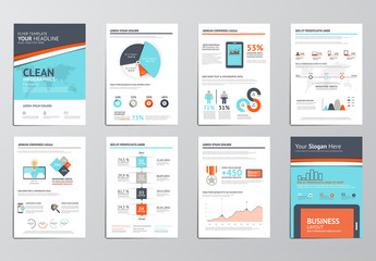 Stripe Element Eight Page Infographics Kit