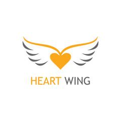 Gold heart wing logo