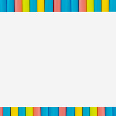 multi  Colorful pipe with copy space for your text on white background. / education, creativity and feeling happy