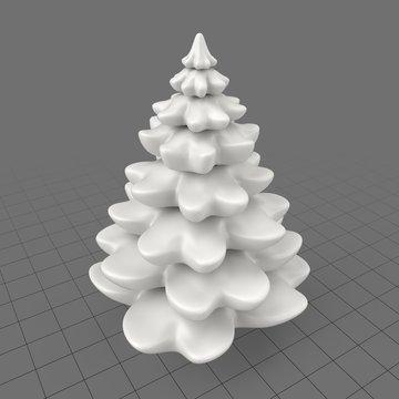 Birthday pine tree