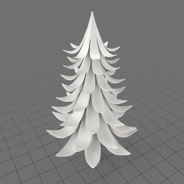 Curly pine tree