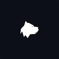 head dog logo icon template