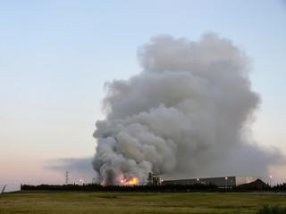 Incêndio numa fábrica