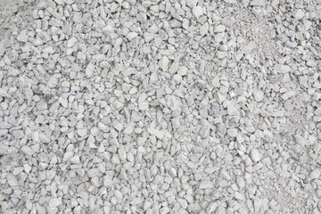 Crushed stone construction materials.Crushed stone texture background.