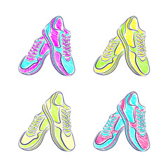 Sports Stylish Sneakers , vector