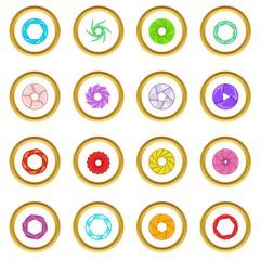 Photo diaphragm icons circle