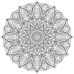 Mandala for coloring book