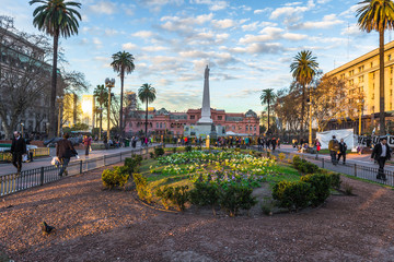 Stores photo Buenos Aires Buenos Aires - June 30, 2017: Gardens of the Casa Rosada in Buenos Aires, Argentina