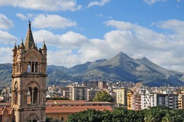 Aluminium Prints Palermo Panorama di Palermo dai tetti della cattedrale - Sicilia