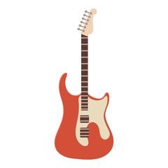 Classic rock guitar icon, cartoon style