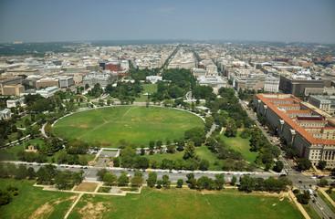 White House Aerial View from the top of Washington Monument, Washington DC, USA