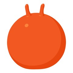 Fitball icon, cartoon style