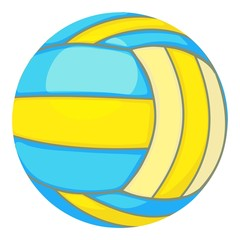Ball for volleyball icon, cartoon style