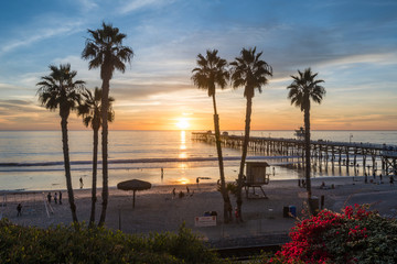 Sunset at the San Clemente Pier