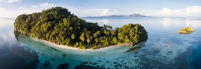 Wall Mural - Aerial View of Gorgeous Tropical Island in Raja Ampat