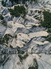 Aerial view of canyons