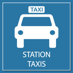 Logo station taxis.