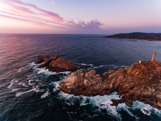 Aerial view of Costa do Morte, Galicia, Spain