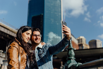 Travelers Take a Selfie in Sydney