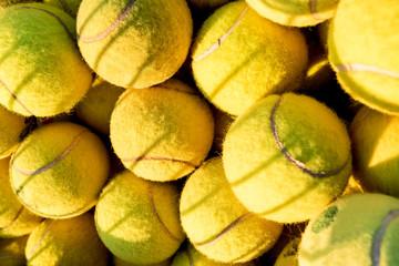 Detail of tennis balls