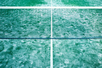 Empty paddle tennis courts