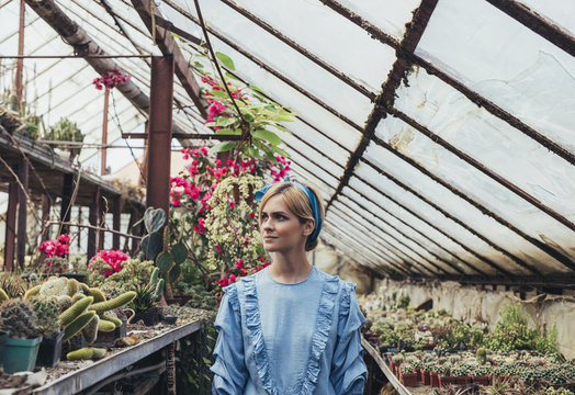 Portrait of Woman Florist