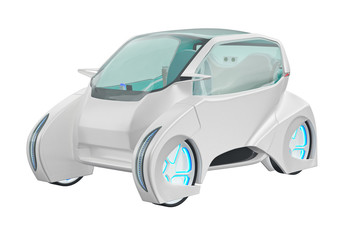 Car future futuristic electric innovation transport. 3D rendering