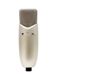 Studio microphone isolated on a white background. Condenser.