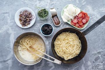 Food: Spaghetti Frittata alla Puttanesca