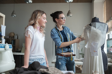 Women in tailor workshop