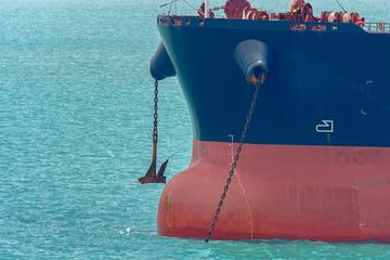 Ship anchor close-up