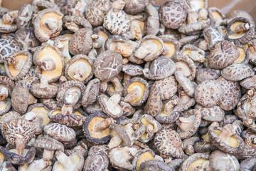 Dried mushrooms for cooking ingredients