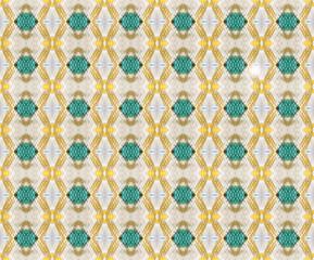 Emerald like kaleidoscope pattern