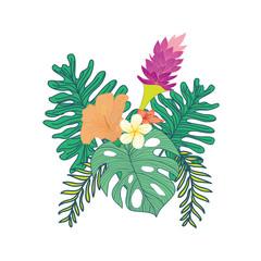 Tropical Flowery Composite Design