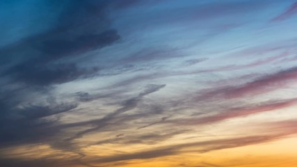 Wall Mural - Time lapse of clouds sunset.